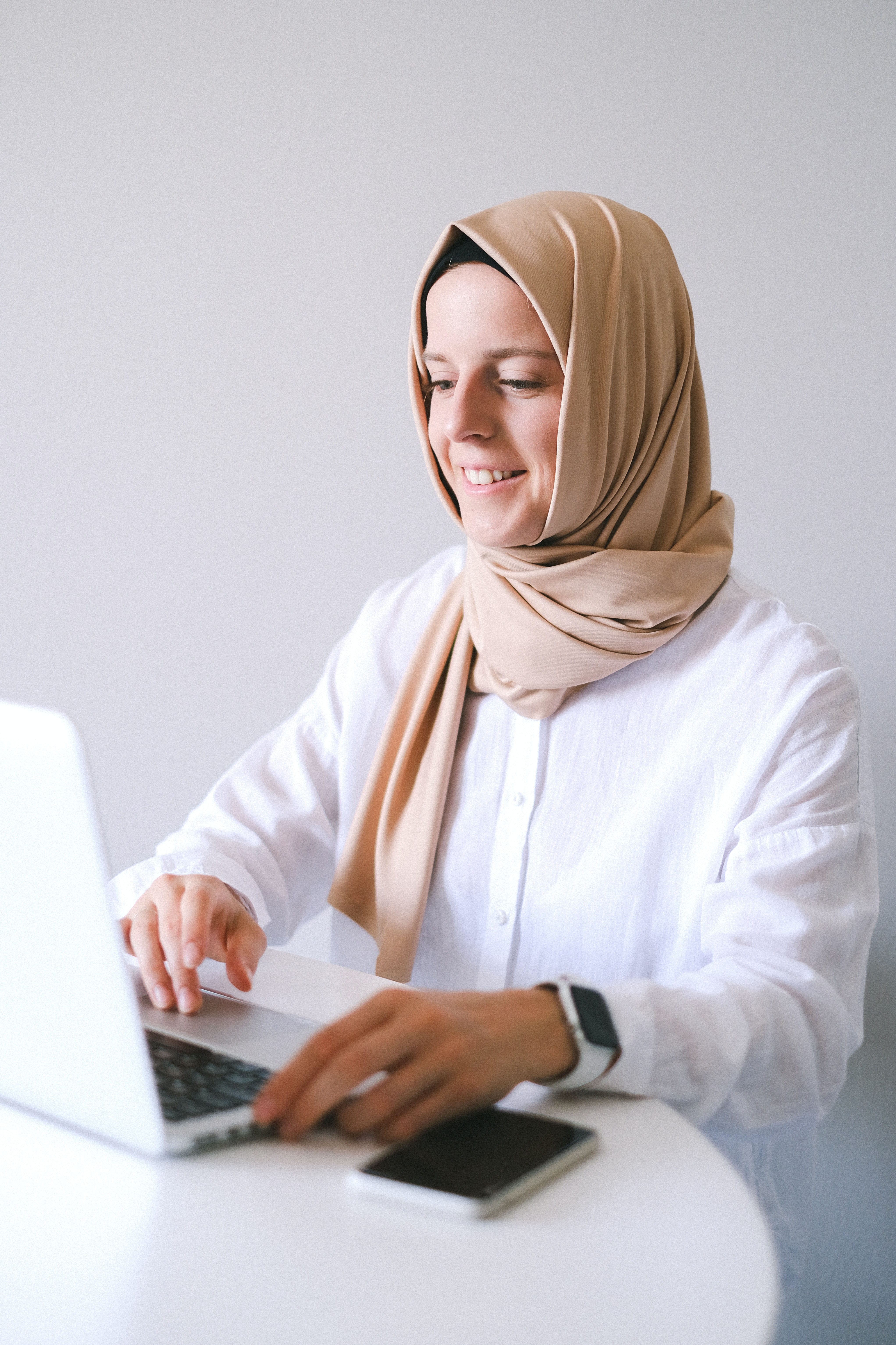 Person studying on a laptop
