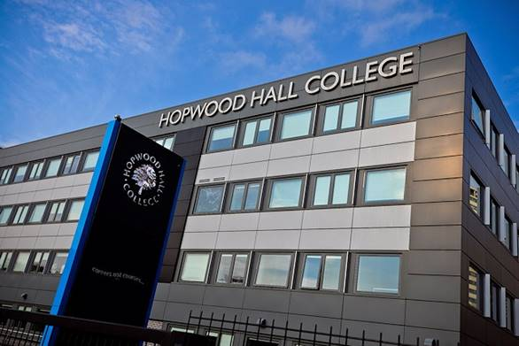 Hopwood Hall College Rochdale Campus from the outside