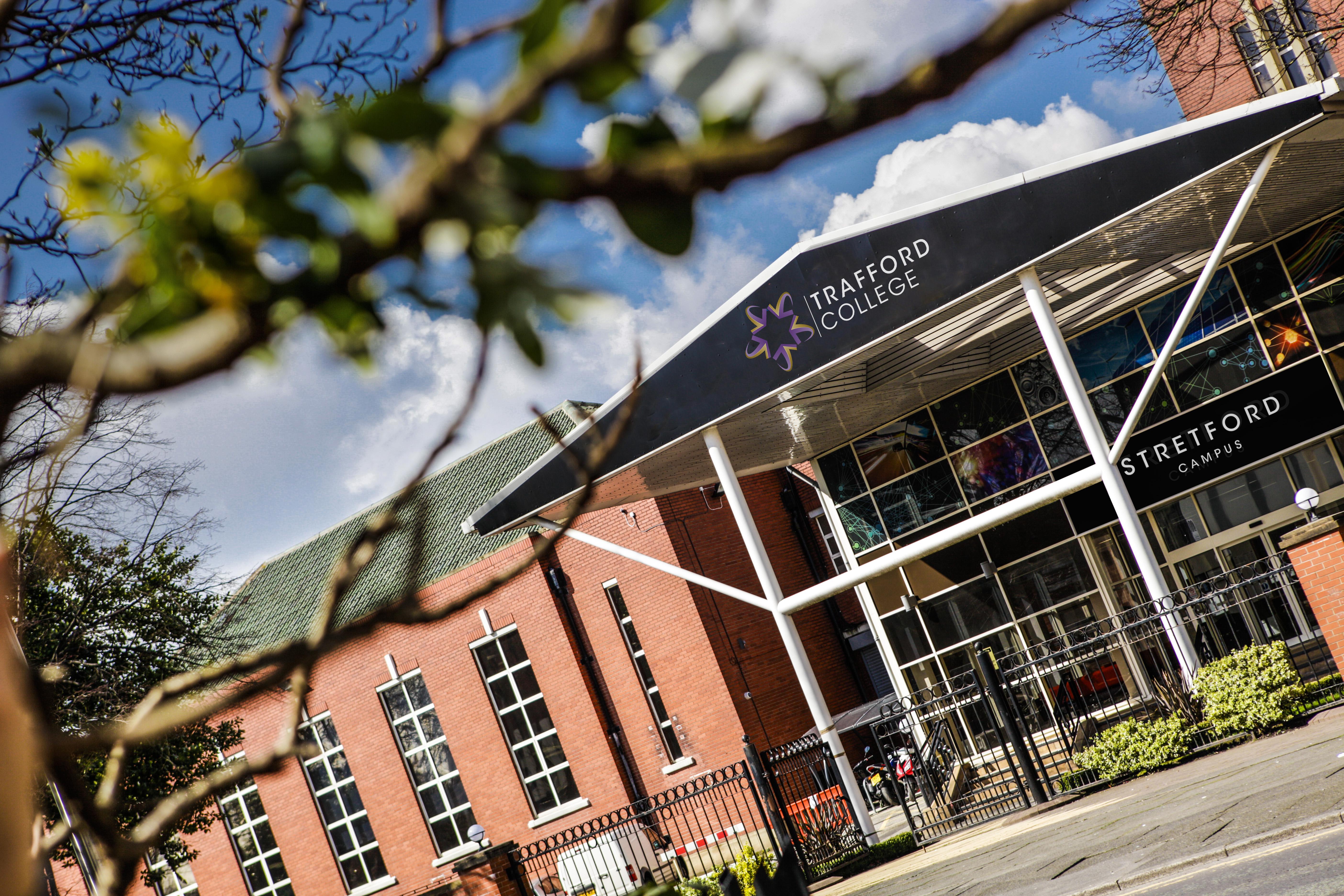 Outside Trafford College Stretford Campus