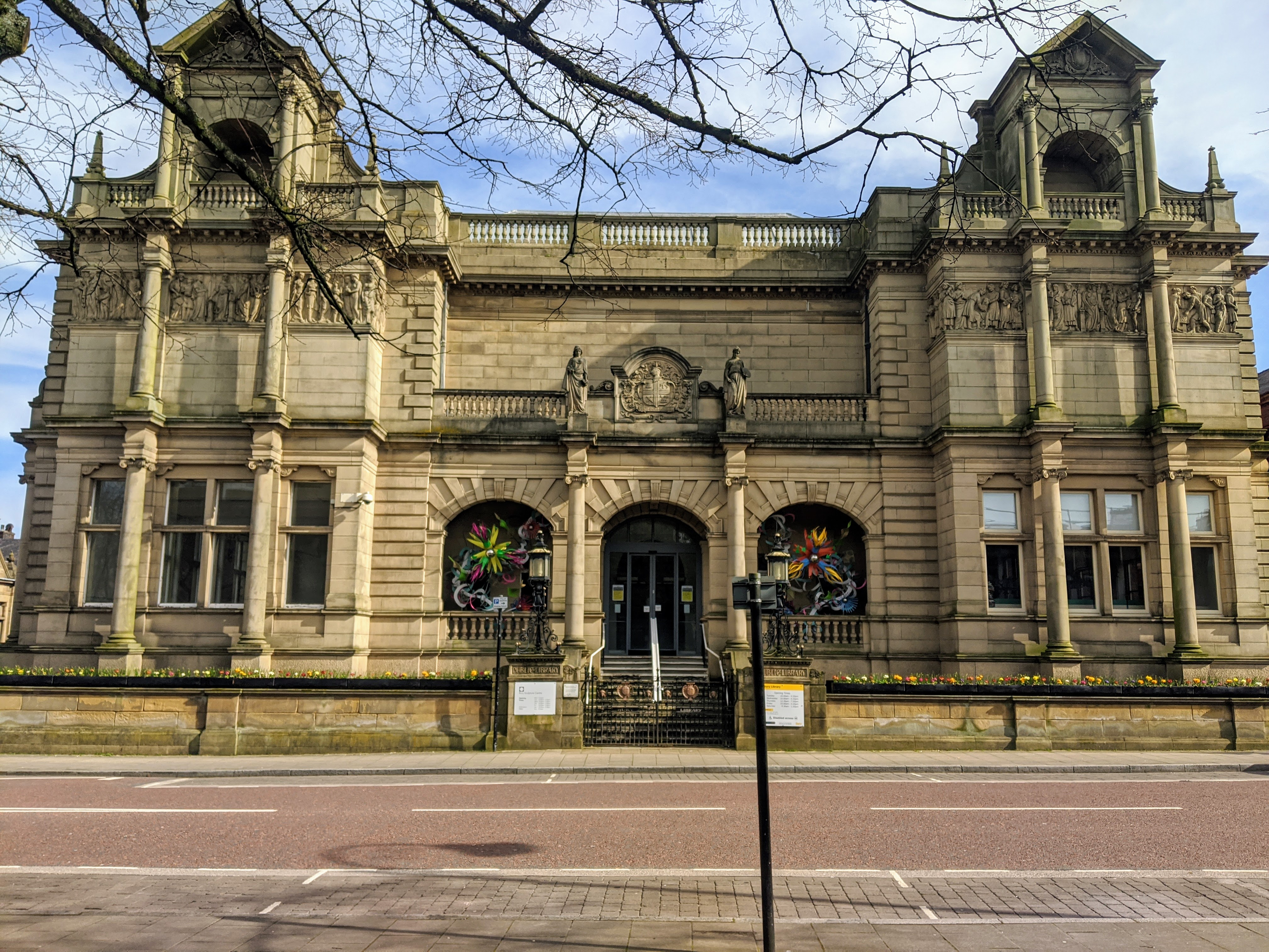 Bury Library from the outside