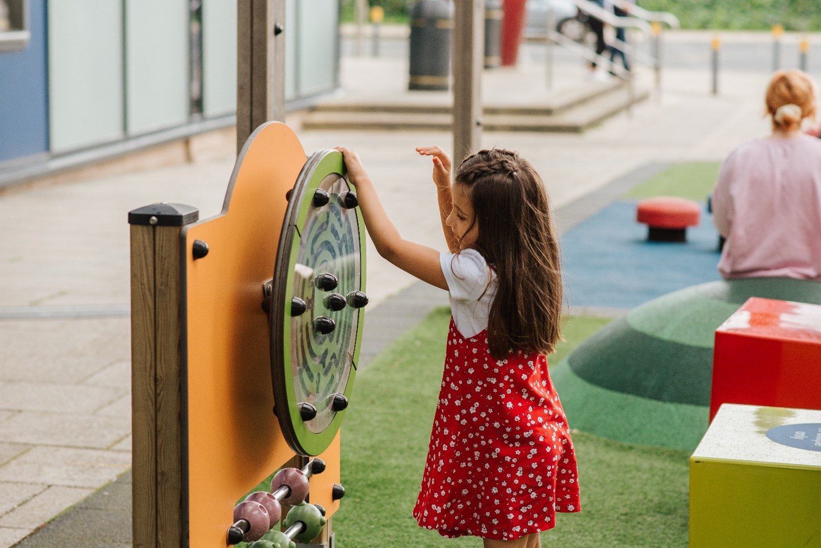 Child playing in a playground